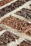 Brick texture macro. Macro of bricks with rough surface texture Royalty Free Stock Images