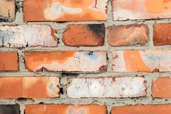 Background of brick wall texture. close up royalty free stock image