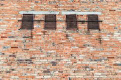 Background of brick wall texture. close up stock photography