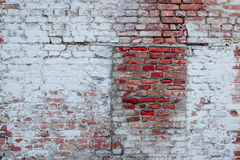 Brick texture with scratches and cracks. Texture. Brick. It can be used as a background stock image