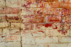 Brick texture with scratches and cracks. Texture. Brick. It can be used as a background stock images
