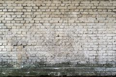 Brick textured background or wallpaper of dirty white color Royalty Free Stock Photos