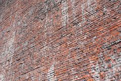 Brick textured background or wallpaper of old red color Stock Photo