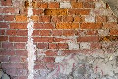 Brick textured background or wallpaper of old red color Royalty Free Stock Photography