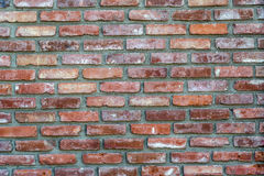 Brick Textured Wall. Closeup of brick wall background Royalty Free Stock Photo