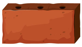 Brick with three holes Stock Image