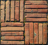 Brick tile ground texture Royalty Free Stock Photography