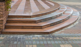 Brick tile stairs outdoor. Park royalty free stock images