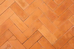 Brick tiles, floor pattern Stock Photos