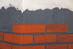 Brick tiles on the walls. Stock Photography