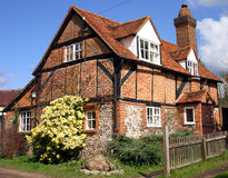 Brick And Timber Cottage. Quaint traditional brick and timber cottage in Buckinghamshire England Stock Photography