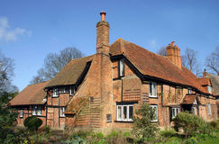 Brick And Timber House. Large traditional brick and timber house in Askett, Buckinghamshire, England Stock Photo