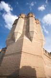 Brick tower of coca castle Royalty Free Stock Photo
