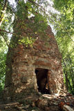 Brick tower in the forest Royalty Free Stock Images