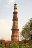The brick tower of Qutb Minar India Stock Photos