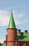 Brick tower with a spire Royalty Free Stock Photos