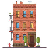 Brick townhouse Stock Image