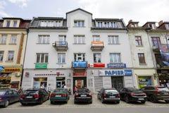 Brick townhouse in Zakopane Stock Photos