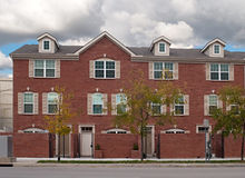 Brick Townhouses Royalty Free Stock Photos