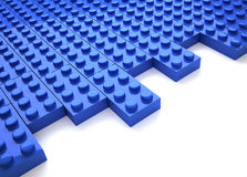 Brick toy. Blue brick toy - this is a 3d render illustration Stock Photo