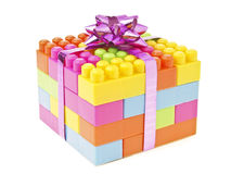 Brick toy gift Royalty Free Stock Photo