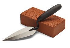 Brick and Trowel Stock Photos