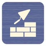 Brick with Trowel Symbol. Vector illustration Stock Photos
