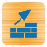 Brick with Trowel Symbol. Vector illustration Royalty Free Stock Photos