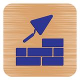 Brick with Trowel Symbol. Vector illustration Royalty Free Stock Images