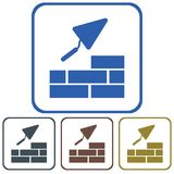 Brick with Trowel Symbol Royalty Free Stock Image