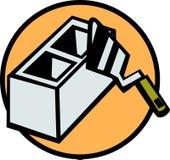 Brick and trowel vector illustration. Vector illustration of a brick and a trowel Stock Photos