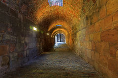 Brick tunnel Stock Photography