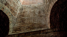 Brick tunnel. Old tunnel at temple Stock Image