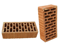 Brick in two views Stock Photos
