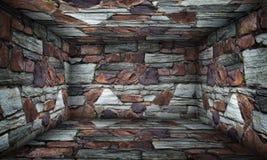 Brick Urban Interior Stage Stock Images