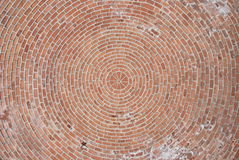 Brick vault. View of a brick vault with circular pattern Royalty Free Stock Photo
