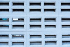 Brick vents wall white color,brick blowhole wall white color. Royalty Free Stock Photo