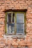 Brick wal and window Royalty Free Stock Photos