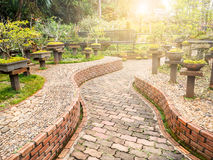 Brick walk way Stock Photo