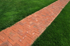 Brick walkway Stock Photo