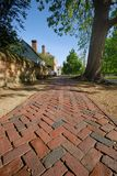 Brick walkway Royalty Free Stock Images