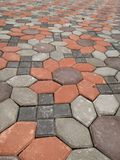 Brick on Walkway. Brick on walkway, made form concrete and cement Stock Images
