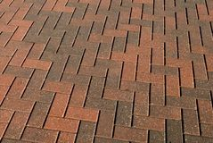 Brick Walkway Pattern Royalty Free Stock Photography