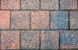 Brick Walkway texture. Photograph of a square brick footpath pattern Royalty Free Stock Photos