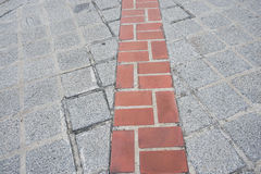 Brick walkway to destination. Brick walkway to reach the destination Royalty Free Stock Photography