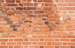 Brick wall. Red brick wall. Old and new bricks Stock Photography