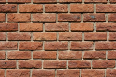 Brick wall. Close up of a brick wall royalty free stock photography