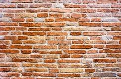 Brick wall. Old wall with bricks hand-made, surface of aged palace Royalty Free Stock Image