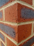 Brick Wall. Abstract photograph of a corner of a brick wall with extreme angles Royalty Free Stock Photos