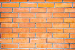 Brick wall. The red brick wall of a house Stock Image